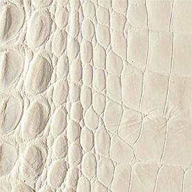 Stampa alligatore - col. 49106 bianco