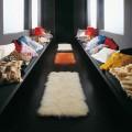 Tappeti realizzati con teli di pelliccia Mongolia