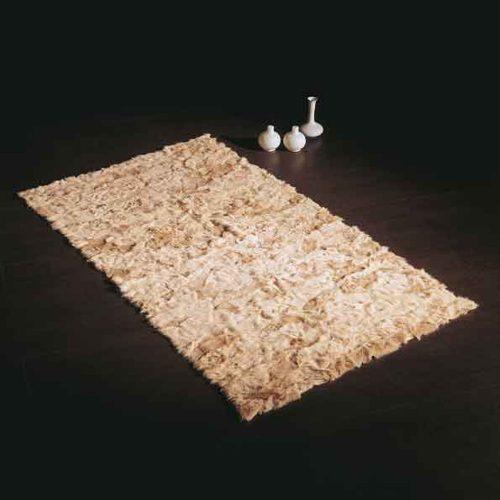 Tappeto realizzato con teli pelliccia Volpe